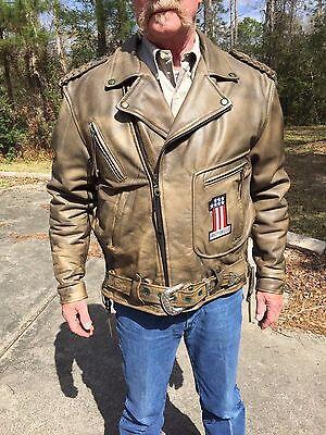 Men's Vintage Leather Motorcycle Jacket