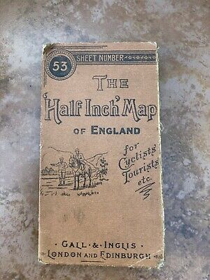 victorian map .the half inch map of england for cyclists - tourists etc