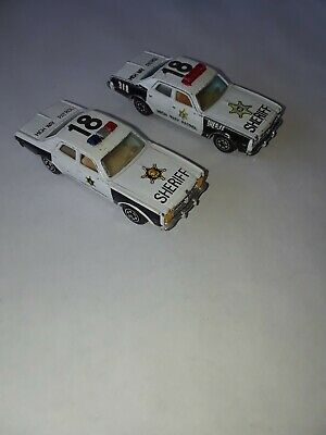 Lot Of Two Dodge Monaco Police/Sheriff Cars Used Like Matchbox.Two Variations.