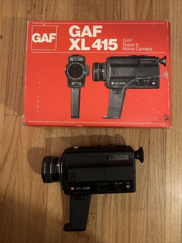 Vintage GAF XL 415 Super 8 Movie Camera In Box