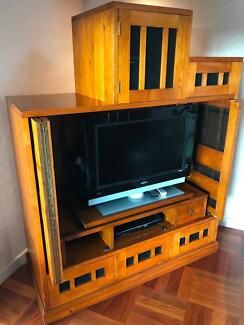 TV Cabinet made of Solid Radiator Pine