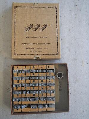 Franklin Manuf Hot Stamp Dura-cast-type Imprinting Stamp Set 3692