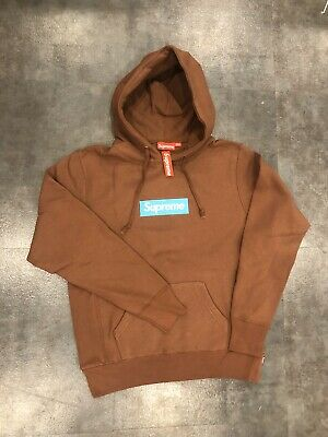 supreme box logo hoodie Brown Size M, L, XL Ask Seller For More Info
