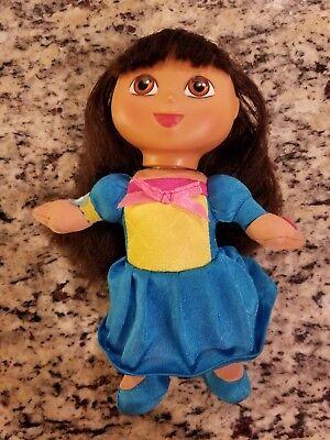 Dora The Explorer Princess Doll - 2009 Fairytale Dora The Explorer Princess Plush Doll W/ Vinyl Face Fisher Price