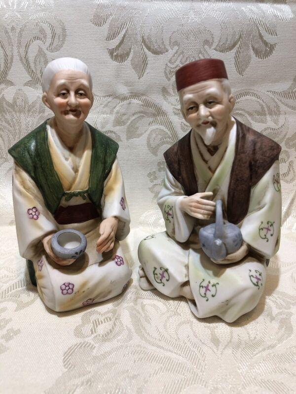 Pair Of Porcelain Figurine - Homco Porcelain Asian Couple