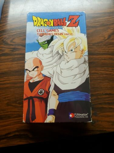 Dragon Ball Z - Cell Games The Games Begin VHS, 2002, Uncut Version  - $16.99