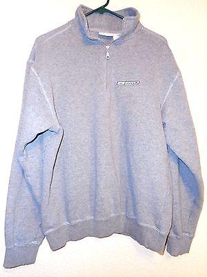 Reebok Mens Pullover jacket sporty sweatshirt Gray 1/4 zip M medium - Mens Sporty Pullover
