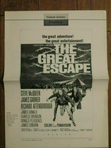 The Great Escape -  Original 1963 Pressbook   - Steve McQueen