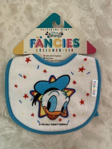 Vintage 1991 Playskool Fancies Designer Bib Walt Disney Babies Donald Duck #1413