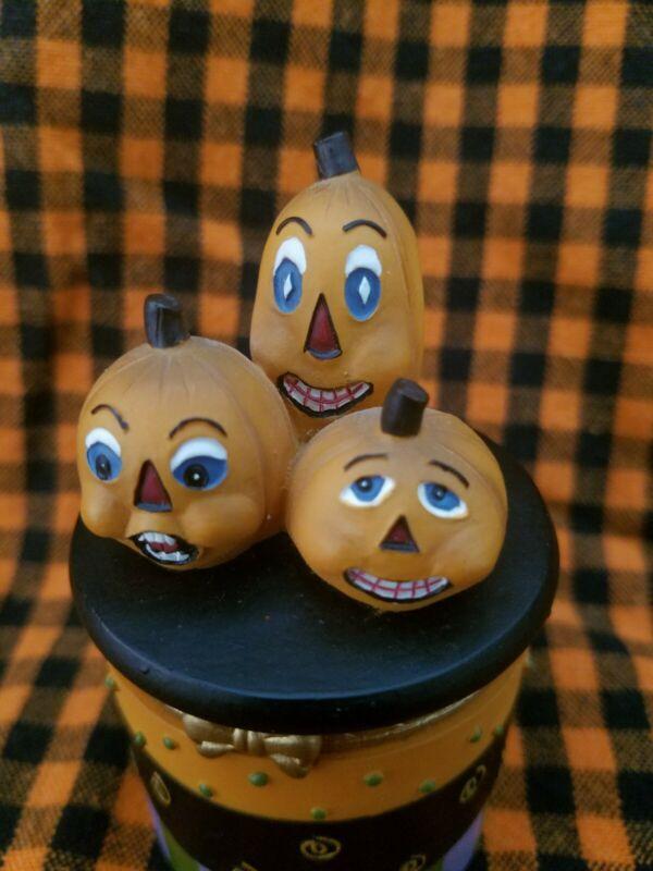 Halloween Pumpkins Trinket Box By Heather Hykes Hand Painted