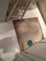 Small job tiles in laundry room