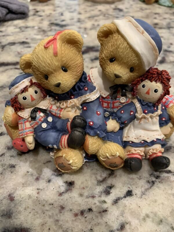 CHERISHED TEDDIES ROSEMARIE AND RONALD 2000  A HUG IS WORTH #706981 Yr2000