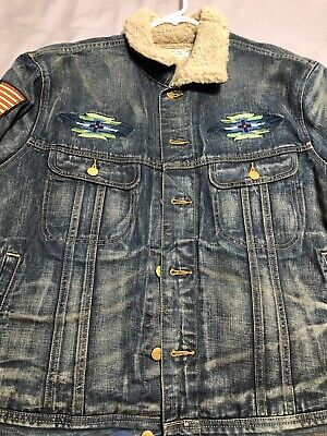 polo ralph lauren aztec denim jacket