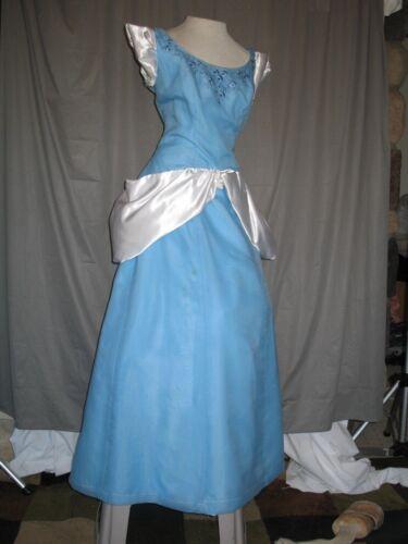 Cinderella Fantasy Disney Princess Dress Gown Light Blue and White