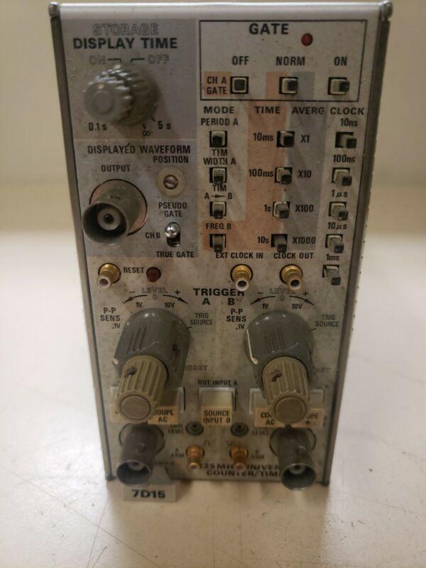 Tektronix  Oscilloscope 7D15 Universal Counter/Timer Plug In