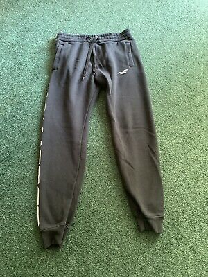 Hollister Sweatpants Joggers Logo Mens Size Small  Black Pants