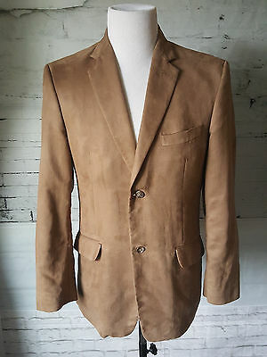 Men's Concepts by Claiborne Brown Faux Suede Polyester 2 Button Sports Coat S