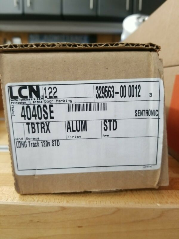 LCN Sentronic 4040SE Fire / Smoke Door Closer, Non-Handed, Alum finish