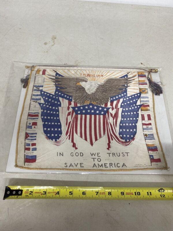 Vintage  Flag American U.S. 1941 Harry Heiter New York
