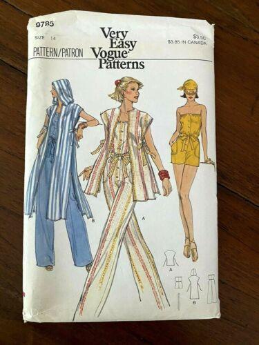 Vintage Very Easy Vogue Pattern 9785 Ms Jacket & Jumpsuit Sz 14 UNCUT FF