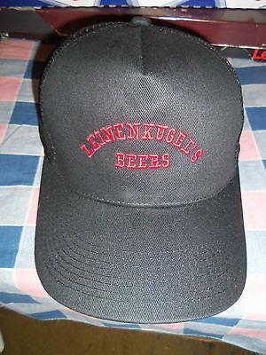 New Hat Cap Leinenkugel's Beers Red on Black   Back Strap Size Adjustment