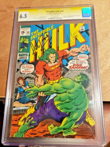 Incredible Hulk #141 CGC SS 6.5 Autograph and Wolverine Sketch by Herb Trimpe