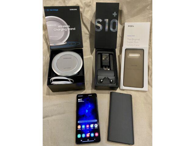 Samsung Galaxy S10+ SM-G975U - 128GB - Prism Black - Factory Unlocked - MINT +++