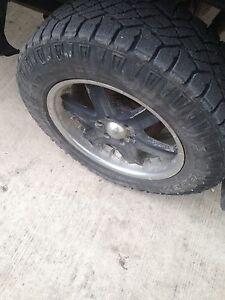 GMC Sierra rims me tires