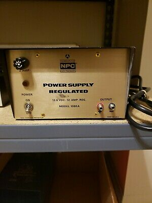 Thompson Csf Npc Regulated Power Supply Model 108ra 13.6v Nucleonics Products