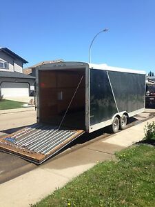 2013 continental cargo enclosed sled trailer