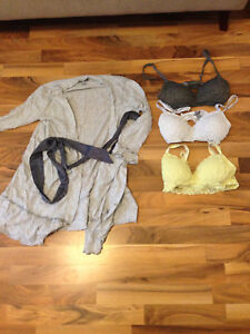 SELLING • Aerie Robe and 3 Bralettes
