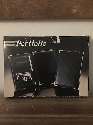 Business Black Leather Portfolio New Never Used