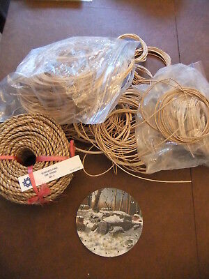 (BASKET WEAVING Round REED+ 1 Pound #3 Seagrass + 5