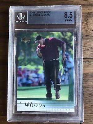 2001 Upper Deck #1 Tiger Woods BGS 8.5 NM-MT+ 9.5 Sub Grade