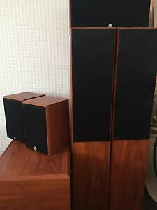 Soniq JVL surround sound speakers 5.1 with Yamaha amp. Bayswater Bayswater Area Preview