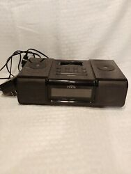 iHome (iH9) Black Ipod Speaker Dock Dual Alarm Clock Radio - free shipping!