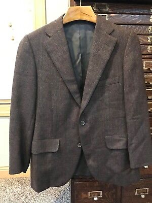 Vintage Norman Hilton Wool Sportcoat Jacket Wool 40 S 40S Made in USA Free Ship