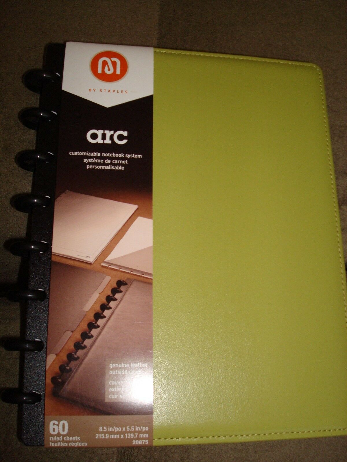 M BY STAPLES ARC CUSTOMIAZABLE NOTEBOOK SYSTEM 20875 LIGHT