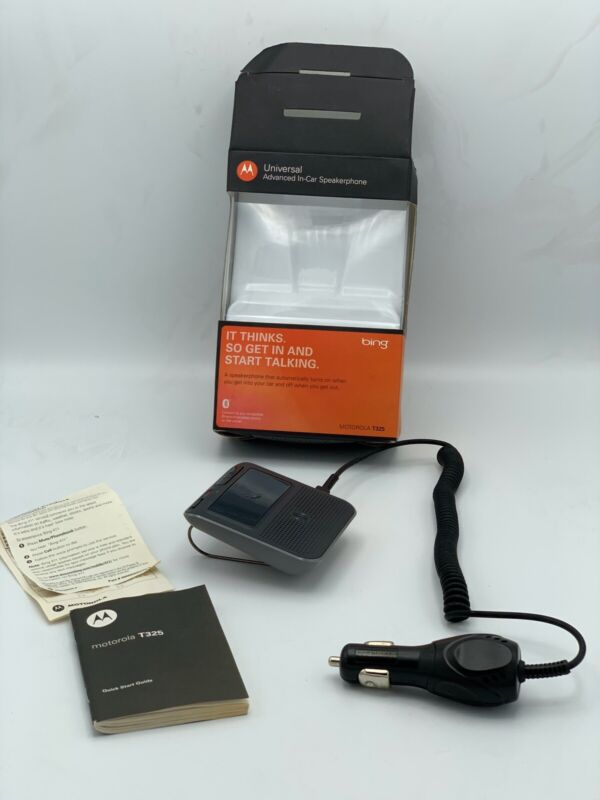 Motorola T325 Bluetooth Portable In-Car Speakerphone with Power Cord Used