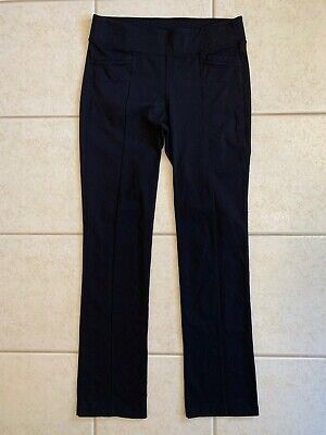 Athleta Womens Metro Skinny Yoga Pants 138452 Medium Black Stretch Athletic