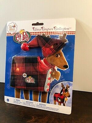 Elf on the Shelf Pet Reindeer Red Plaid Pajamas PJs Claus Couture NEW