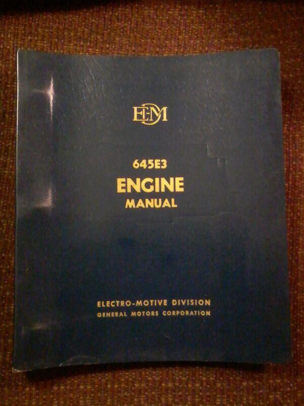 GM/EM  645E3 Locomotive Engine Manual
