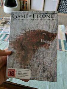 Games of Thrones DVD Box set Season 1 and season 2