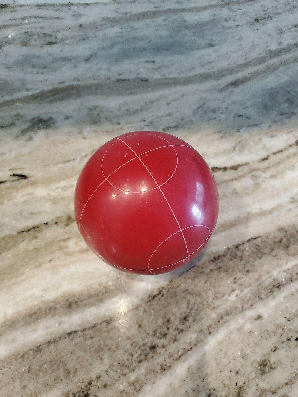VGC EDDIE BAUER RED CIRCLE PATTERN BOCCE BALL