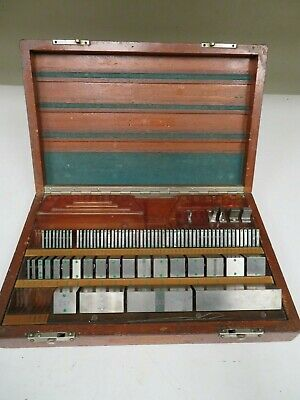 Pratt Whitneyhokestarrett 80 Piece Square English Gage Block Set - Ns15