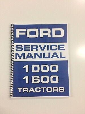 Ford 1000 Tractor Service Manual Repair Manual Technical Manual Shop Manual