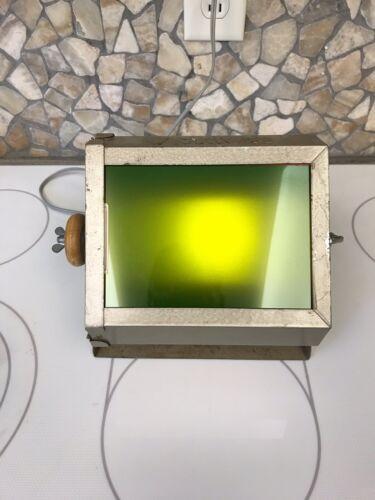 Vintage Hansa Darkroom Lamp Three Lenses Reversing Green To Red, Orange, Clear - $9.00