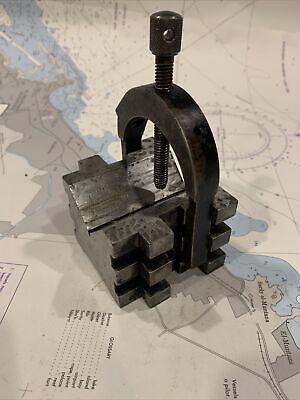 L.s. Starrett No 568 Machinist Set Up V-block W Clamp 38-16 Nc