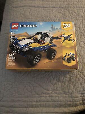 LEGO Creator 3 in1 Dune Buggy Plane Quad Bike 31087 Age 6+ NIB