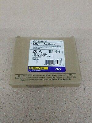 New Qo120pdf Square D 1 Pole 20a 120vac Combo Arc Fault Breaker Gfi